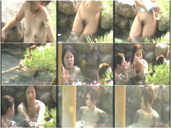 絶景温泉旅館!! 秘境の露天風呂盗撮 1-5