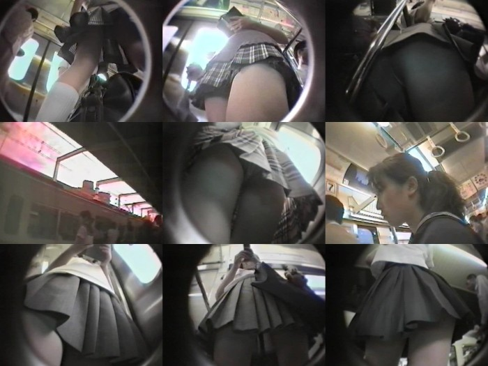 顔とパンツと制服女子1~電車内2カメ撮り~①