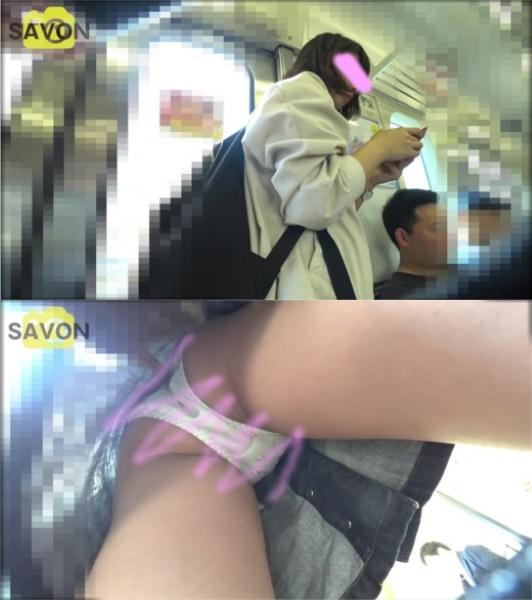digi-tents savon_001 【顔出しJD】電車内とイベント会場で台形デニムを履いた美人JDのスカートの中を撮影してみたら凄いのが撮れた。【パンチラ逆さ撮り】