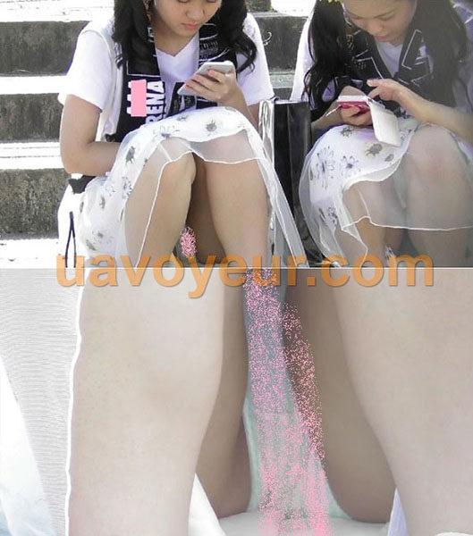 marumie2.pcolle 丸見え!!かわいい私服女子のストライプパンツ 再編集高画質pcolle ver.