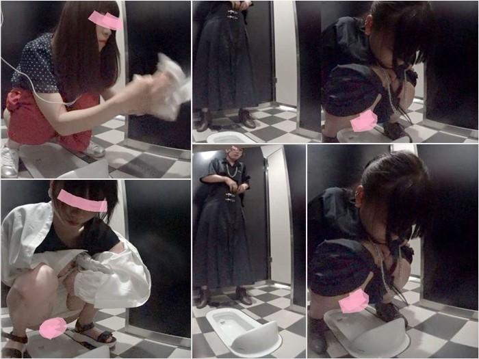 神〇の高級デパート和式トイレ2オシャレな服を着てても結局見せちゃう