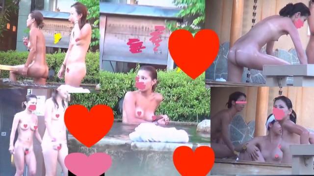 美女たちがスパで素っ裸でうろうろ!!最高な体